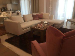 Σαλόνι γωνία και πολυθρόνα